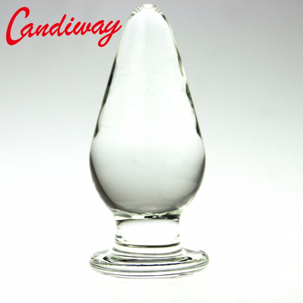 Huge Glass plug anal sex toys for woman lesbian G SPOT squirt Crystal BIG BULLET BUT anal prostate stimulator anus BUTTplug