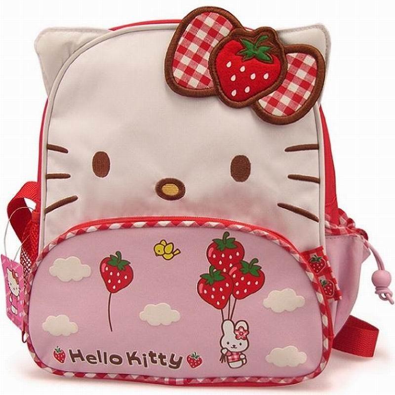 Cute Design Hello Kitty Strawberry Children's Schoolbag Student Girls Birthday Gift