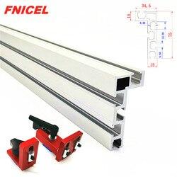 Altura de alumínio da cerca 75mm do perfil de 600mm/800mm com t-trilhas e conector deslizante da cerca do calibre da mitra dos suportes para trabalhar madeira