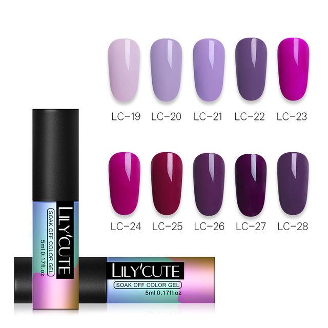 LILYCUTE 1 Bottle 5ml Royal Purple Series Gel
