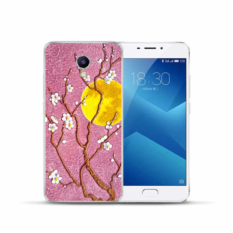 De Lujo Floral de flor de dibujos animados flamingo para Meizu M3S M5 M5S M5C M6 M3 M5 M6 nota U10 U20 teléfono caso funda funda de gato