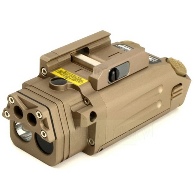 CQC Tactical DBAL IR Red Laser Light Combo Airsoft LED Flashlight Paintball Hunting Shooting Pistol Gun Weapon Light