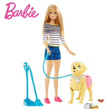 Original Barbie Authorize Brand Fashion Dolls Bicycle Model Dog Toy Riding Girl For Birthday Gift Barbie Boneca DWJ68 цена 2017