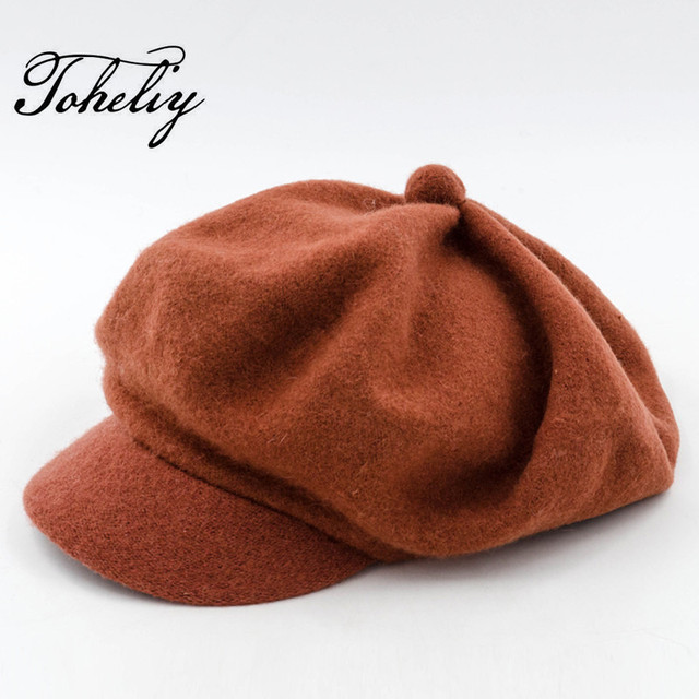 ee430c12fea Autumn Winter Women s Fashion 100% Wool Cute Ladies Hats Vintage Trendy  Derby Bowler Top Fedora Hat Cap for Woman Bucket