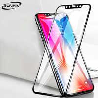 ZLNHIV pour iphone X XR XS MAX protecteur d'écran de téléphone pour i phone 7 8 plus S 6 6S 5 5S SE 5C verre trempé 9H Film de protection