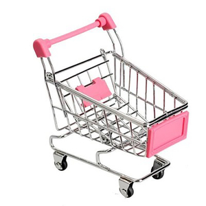 Creative Mini Children Handcart Simulation Small Supermarket Shopping Cart Utility Cart Pretend Play Toys Strollers Kids Gift(China)