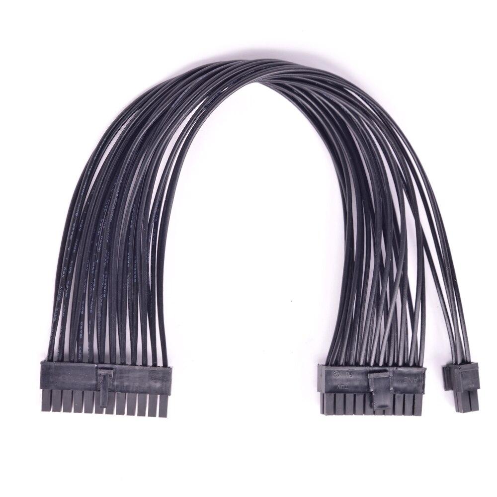 ATX 24Pin à 20 + 4Pin 20Pin câble d'alimentation PSU puissance 24Pin à 24 broches mâle à mâle Port adaptateur convertisseur Cable18AWG