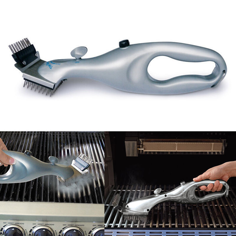 1PC Stainless Steel Barbecue BBQ Cleaning Brush Churrasco With Handle BBQ Cleaner Kitchen Cooking Tools BBQ Tools