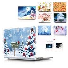 New printing Christmas Laptop Case For MacBook Air Retina Pro 11 12 13 15 with Touch Bar