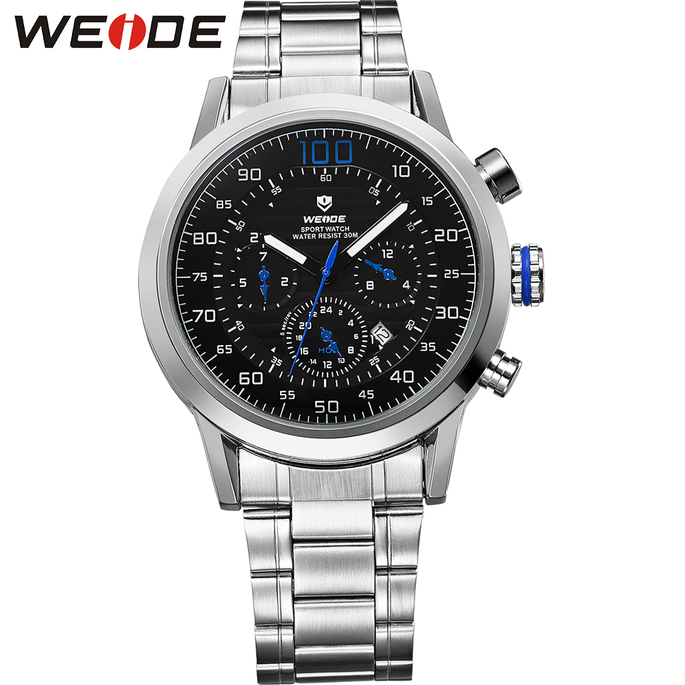 Hot Sale Relogio Masculino WEIDE Brand Original Japan Quartz Sports Watch Men Gift Blue Color Waterproof Analog Military Watches