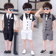 4pcs Suit for Boy Single Breasted Boys Suits for Weddings Co