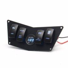 12 V/24 VAluminum черная приборная панель, панель переключателя для Polaris RZR 800 S 570 XP 900 с 4 слотами переключателей с вольтметром