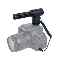 COMICA Full Metal Directional Shotgun Stereo Video Microphone Interview MIC for Canon Nikon Sony Pentax Olympus DSLR Camera