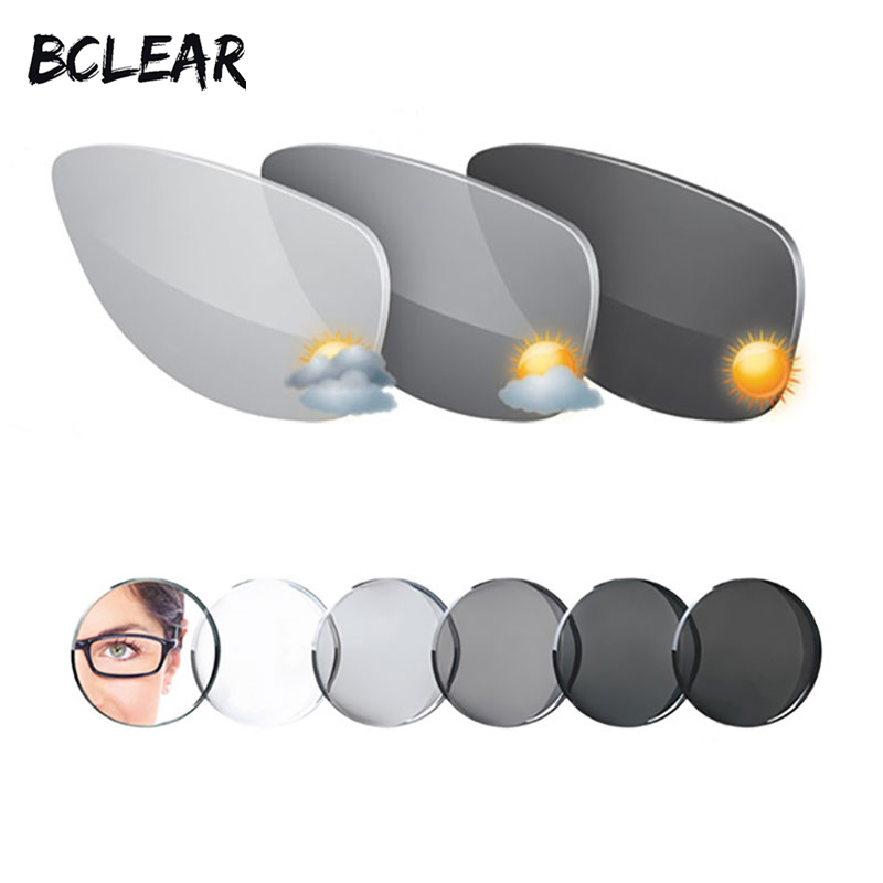 BCLEAR 1.61 Index Aspheric Transitions Photochromic Lenses Sunglasses Lens with Single vision lens Chameleon Gray Brown Myopia Karachi