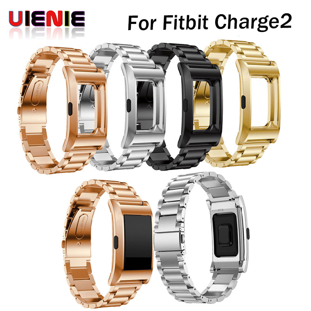 Watchband with frame case Stainless Steel Strap Bracelet Band for Fitbit Charge 2 Smart Bracelet Strap Replacement watch Strap