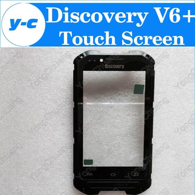 Discovery V6 + Сенсорный Экран 100% Оригинальный Сенсорный Экран Замена Сенсорная Панель Для Discovery V6 + MTK6572 Мобильный Телефон + Трек номер