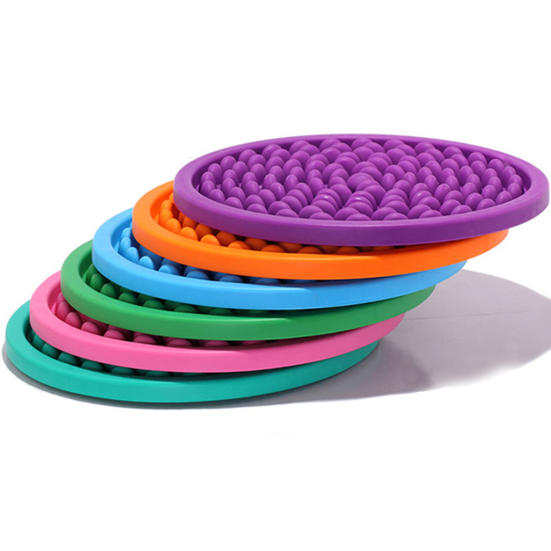 Cobblestone Massage Pad Foot Stress Relax Care Massager PVC Round Pebble Foot Mat цены