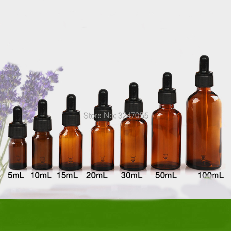Brown Glass Empty Essential Oil Bottle, DIY Amber Essence Dropper Vials with Glass Pipettes,5/10/15/20/30/50/100ml Glass Bottles 50pcs plastic ldpe squeezable dropper bottles eye liquid empty new 88 hjl2017