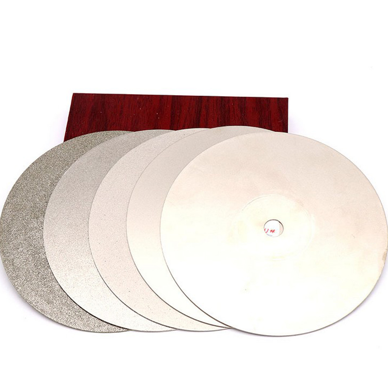 16 inch 400 mm Fine Diamond Grinding Disc Abrasive Wheel Coated Flat Lap Disk for Gemstone Jewelry Rock Inner Hole 12.7mm 1pc 400 800 2000 3000 4000 10000 granularity diamond abrasive paste for jade or metal grinding and polishing