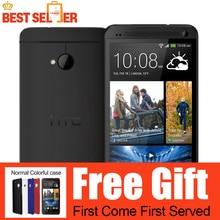 M7 abierto original htc one m7 801e 32 gb android 4g smartphone quad core pantalla táctil de plata/negro