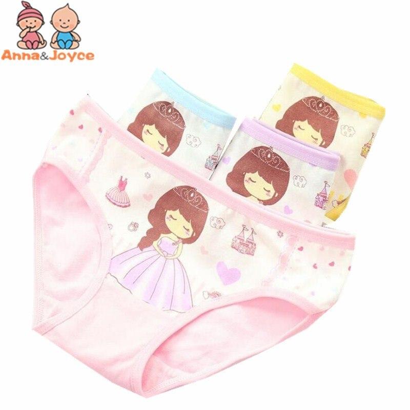4PCS Kids Baby Girls Minnie Underwear Cartoon boxer children 100/% Cotton panties