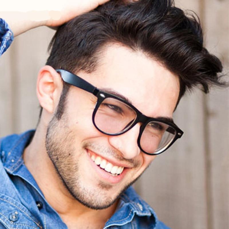 mode stora glasögon ram män kvinnor retro vintage dekorativa ramar med klara linser runda glas ram oculos de grau