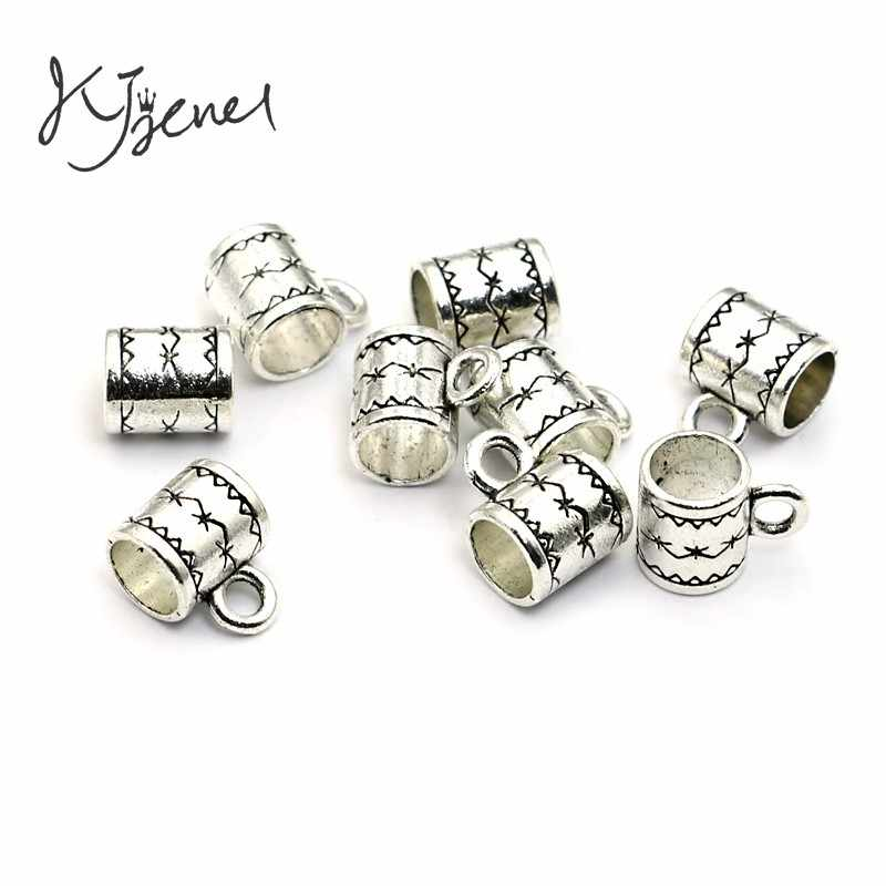 JAKONGO Tibetan Silver Plated Beads Bail Fit European Charm Bracelet Jewelry Findings Accessories Making Craft DIY 5mm