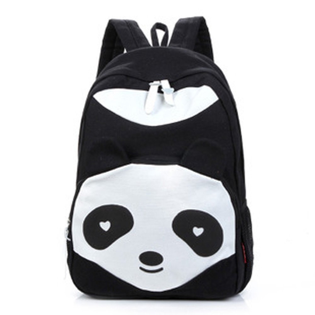 Fashion Lovely Panda Canvas Women Backpack School Bag Student Shoulder Bags For College Girls Teenagers Mochilas Casual Daypacks free shipping casual canvas backpack school bag student backpack panda backpack