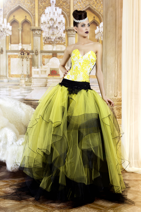 Wedding Dresses Black And Yellow