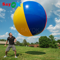 Sayok надувной пляжный мяч пляжный большой красочные волейбол дети взрослые игры на открытом воздухе игрушки Fun Sport 1,5/2,0/3,0 м