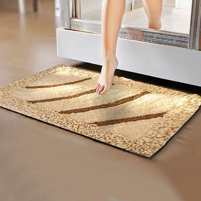 Anti Slip Five Star Hotel Cotton Bathroom Floor Mat Luxury Leopard Print Bath Towels