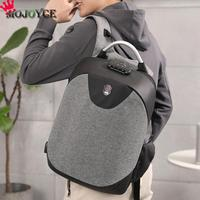 2018 New Fashion Solid Travel Casual Men Teenage Rucksacks USB Charging Anti Theft School Student Backpack
