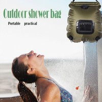 20l Pvc Portable Outdoor Camping Shower Hiking Hydration Water Bag Water Tank Beach Camping Traveling Bathing Bag