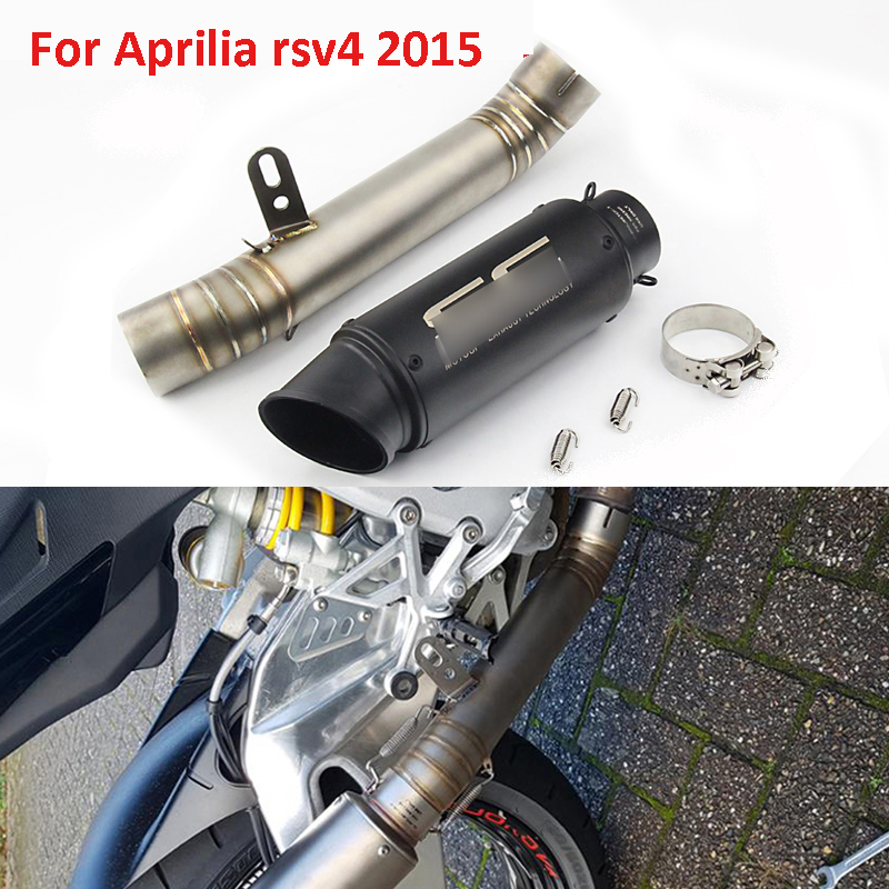 Motorcycle Exhaust System Slip on Full Pipe Connect Middle Link Pipe Whole Set Pipe For Aprilia rsv4 2015