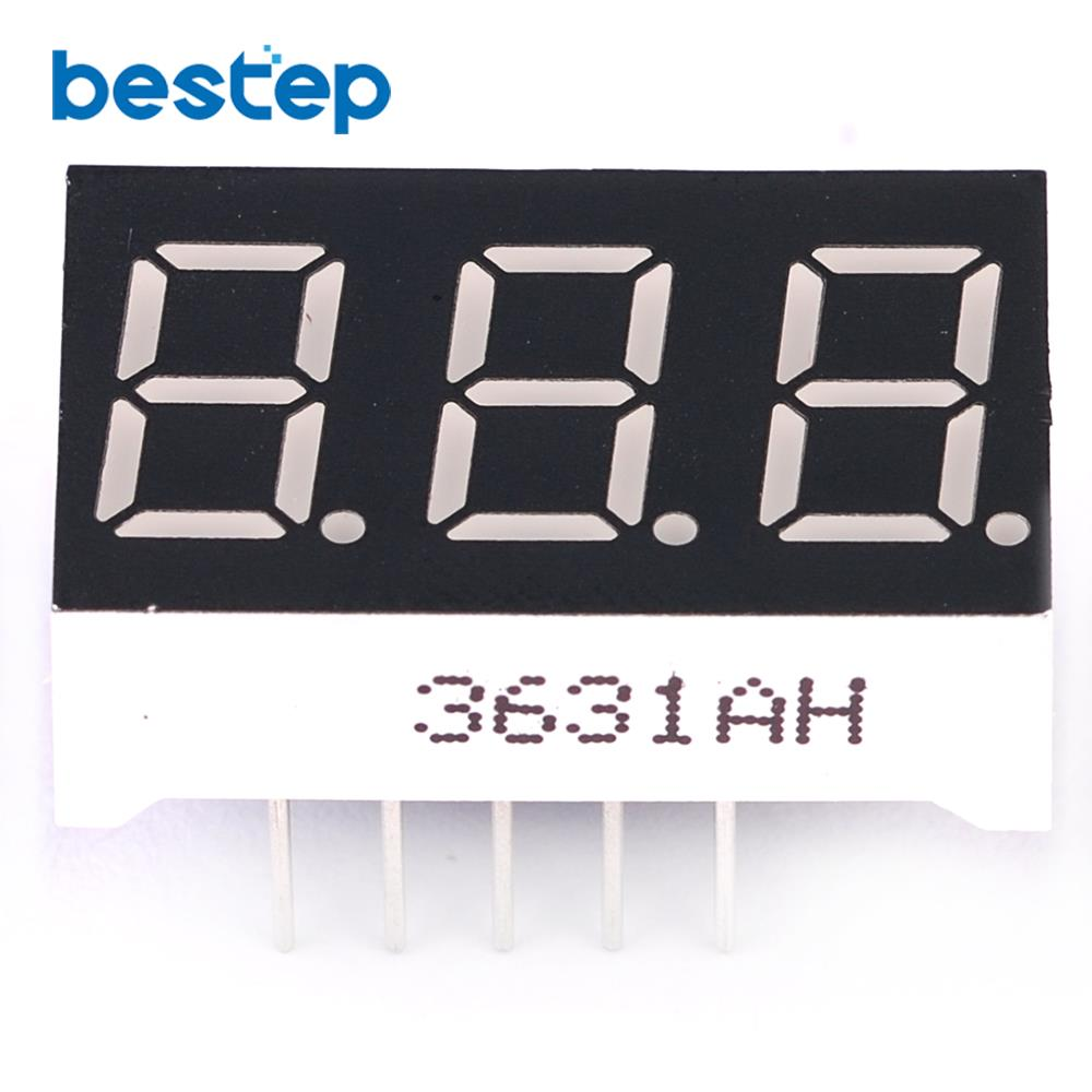 10PCS Common Cathode 0.36 Inch 3 Bit Digital Tube Red Led Display Series Voltage Panel