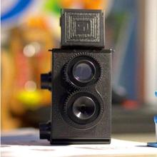 DIY Twin Lens Reflex TLR 35mm Lomo Film Camera Kit Classic Play Hobby Photo Toy Gift for Children/ Students Black