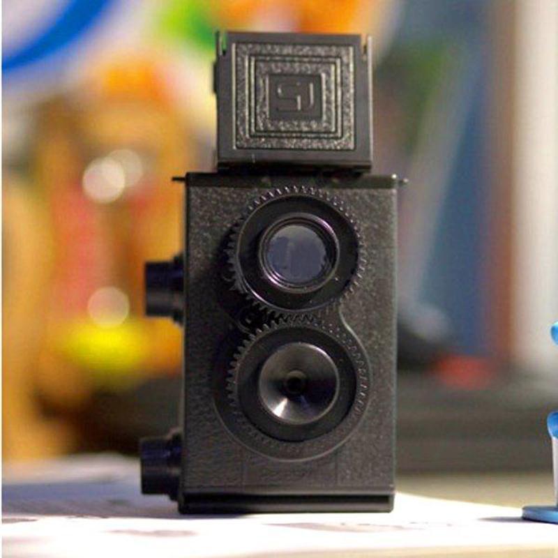 DIY Twin Lens Reflex TLR 35mm Lomo Film Camera Kit Classic Play Hobby P
