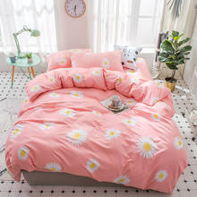 Flower Bedding Set Girls Pink Bed Cover Sets Adult Sunflower Bedding Sets Single Twin Full Queen King Size Bed Sheet Pillowcase(China)