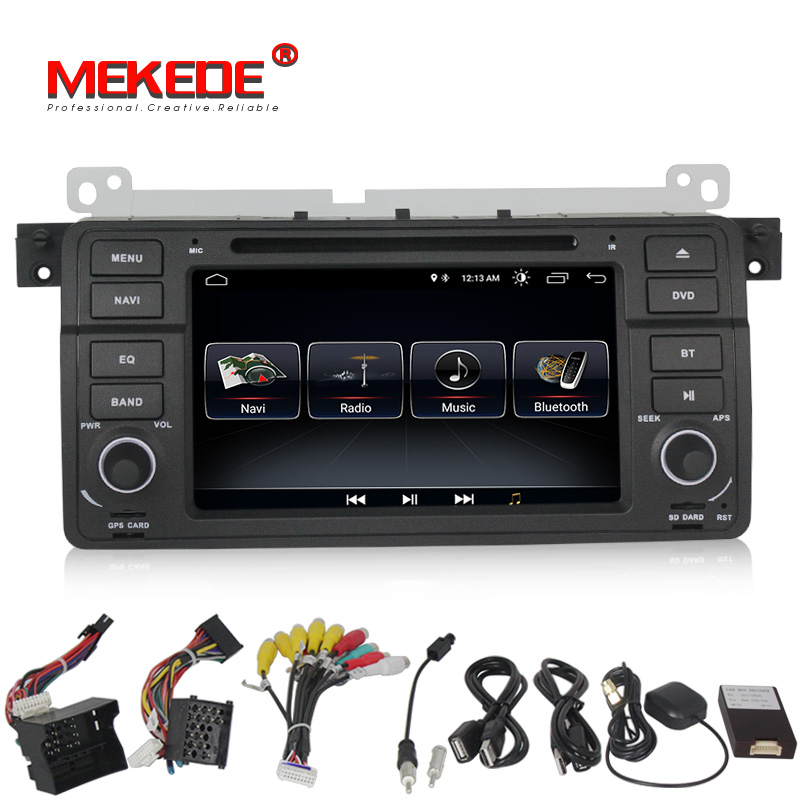 Android 8.1 1024*600 Car dvd multimedia player radio audio for BMW E46 M3 With GPS Navigation BT SD USB RDS free MAP MIC Canbus
