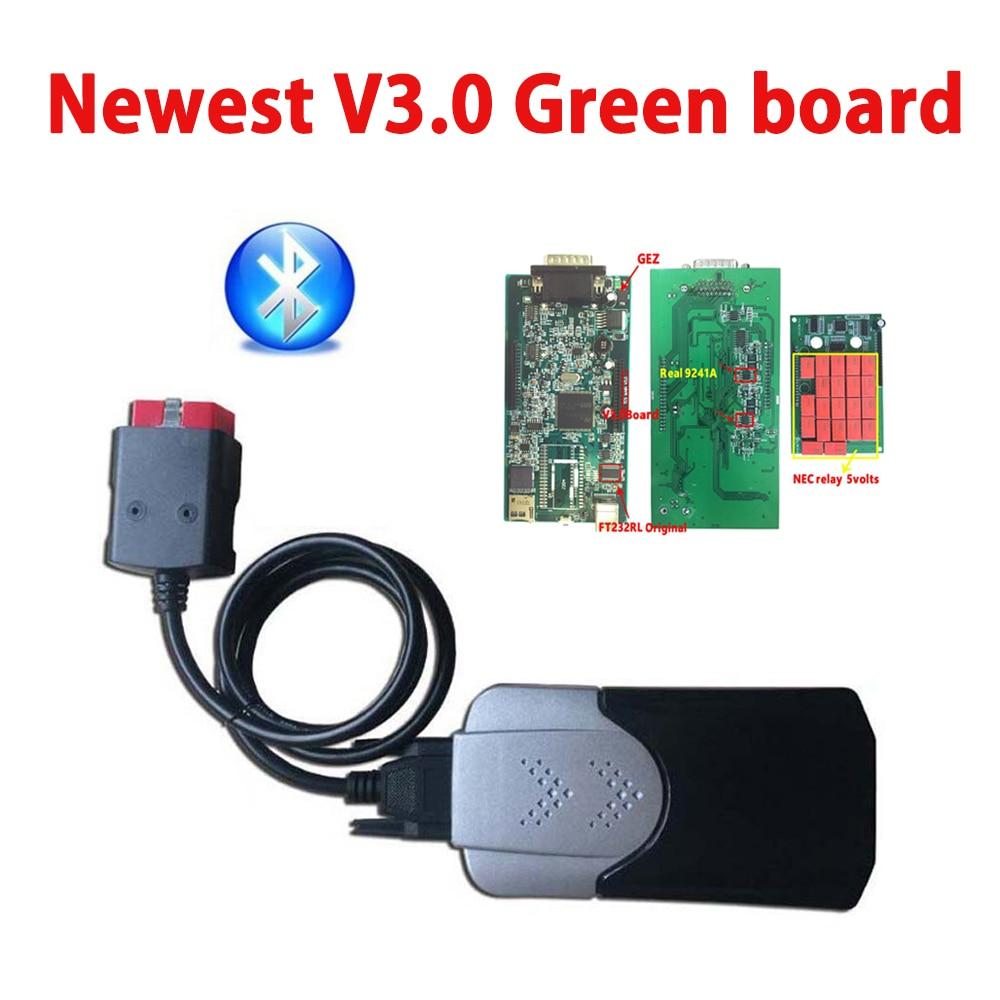 Новая форма VD DS150E CDP Pro новинка 2016.R0/2015.R3 с генератором ключей V3.0 зеленая печатная плата Bluetooth для obd автомобилей грузовиков OBD2 сканер Инструме...