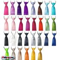 100x Fashion New Satin Child Kids School Boy Wedding Elastic Neck Tie Free Shipping By EMS