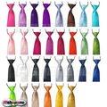 100x moda nueva Satin School Kids Child Boy boda corbatas elástica envío gratis por EMS