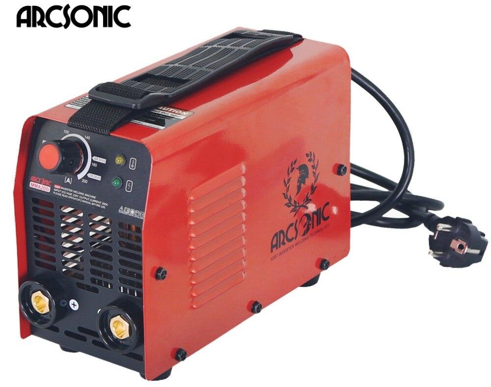 IGBT Arc máquina de Solda Soldador Inversor MMA200 ARC200 eletrodo 2.5 3.2 4.0 Arc Soldador máquina de solda de solda Fácil