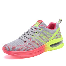 Plus Size 35-40 Running Shoes for woMen Lace Up Athletic Shoes 2018 Outdoor Walking Jogging Shoes Women Air Mesh Breathable Snea