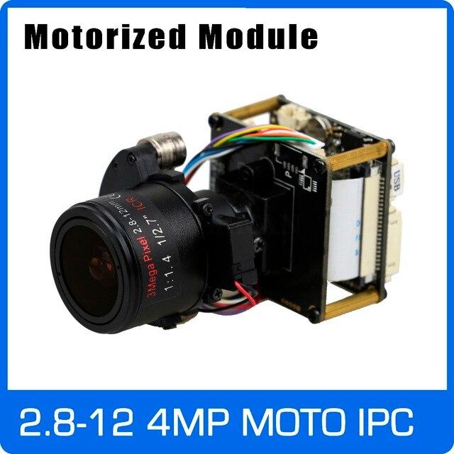 "IP كاميرا 4MP 2.8 12 مللي متر بمحركات التكبير والسيارات عدسة البؤري 1/3 ""CMOS OV4689 + Hi3516D CCTV IPC وحدة المجلس مع كابل شبكة محلية"