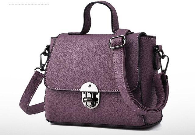 2017 New Arrival Pu Casual Women Solid Cover Messenger Bags Handbag S Bag Shoulder