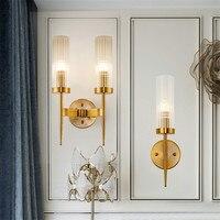 BEIAIDI E14 nowoczesne minimalistyczne lampy Led światła na ścianie sztuki szkło dekoracyjne sypialnia lampki nocne kinkiet Hotel przejściach i korytarzach korytarz ściany kinkiet oprawa w Lampy ścienne od Lampy i oświetlenie na
