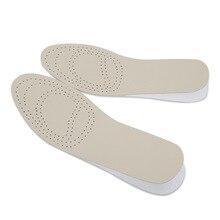 2017 Aumento de la Altura Plantilla Cojín de Piel Completo Hombres Mujeres Transpirable Absorbente Plantillas de Zapatos de Eva Almohadilla Del Pie Suelas De Los Zapatos Accesorios