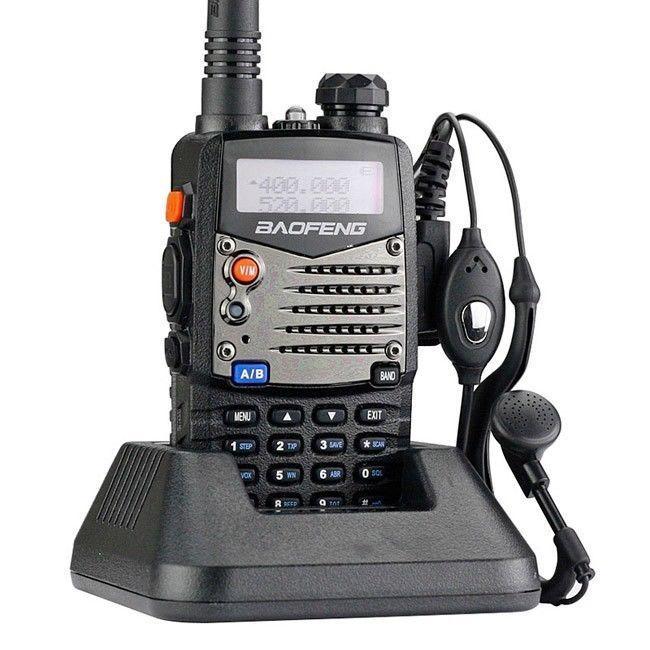 Baofeng uv-5ra 5r-plus nouvelle version 136-174/400-520 mhz double bande radio + écouteur + moscou stock