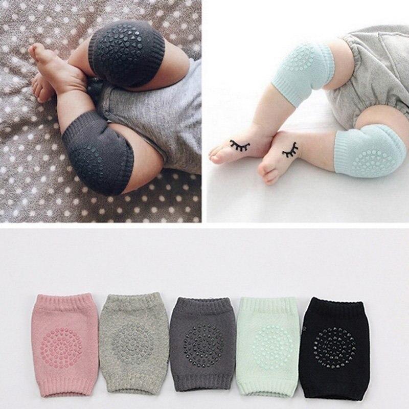 2Pcs Baby Girls Boys Newborn Toddler Cotton Crawl Socks Protective Unisex Kids Crawling Kneepad Anti Slip Leg Warmer Fit 0-3Y